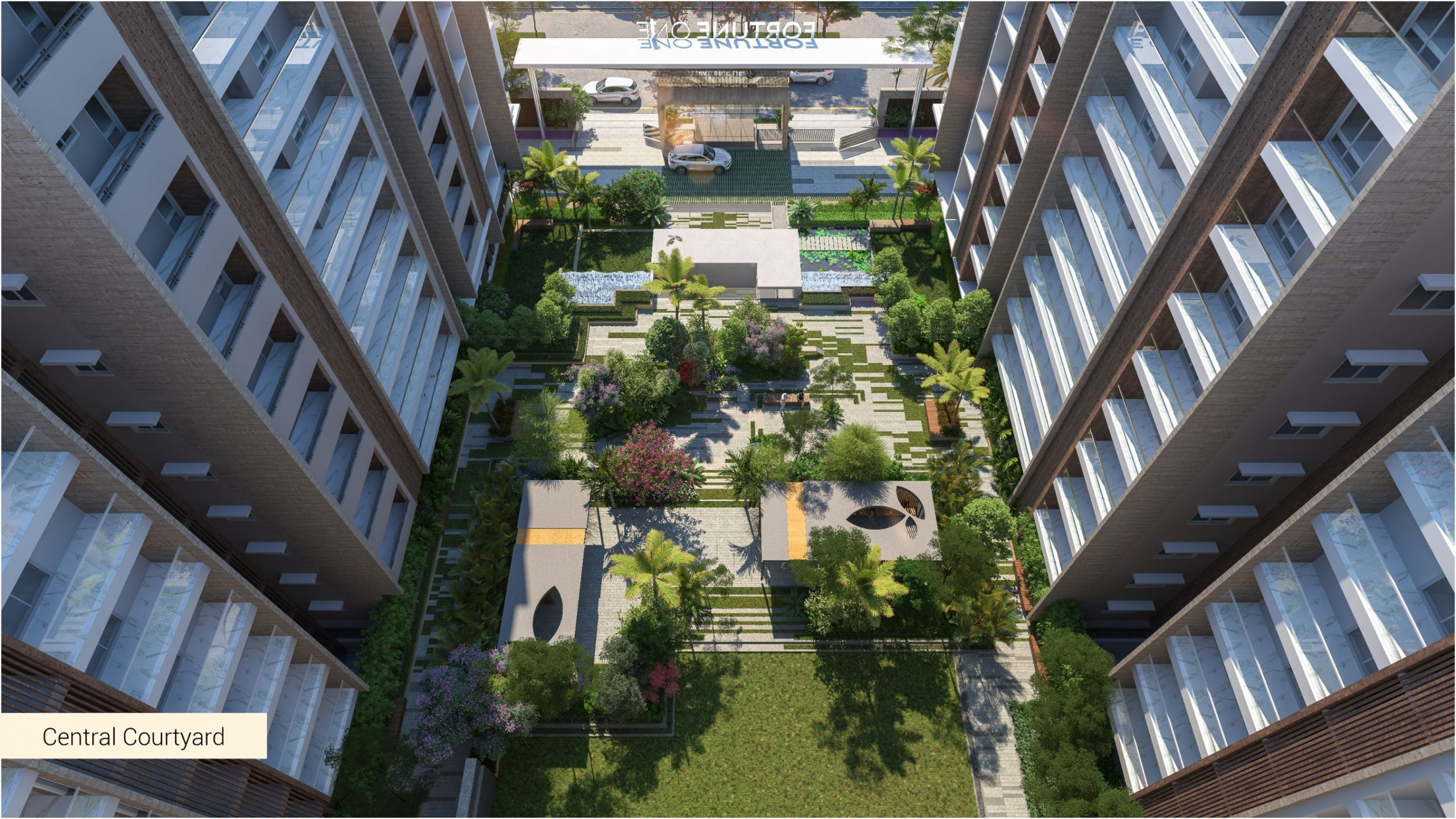 Central courtyard areal