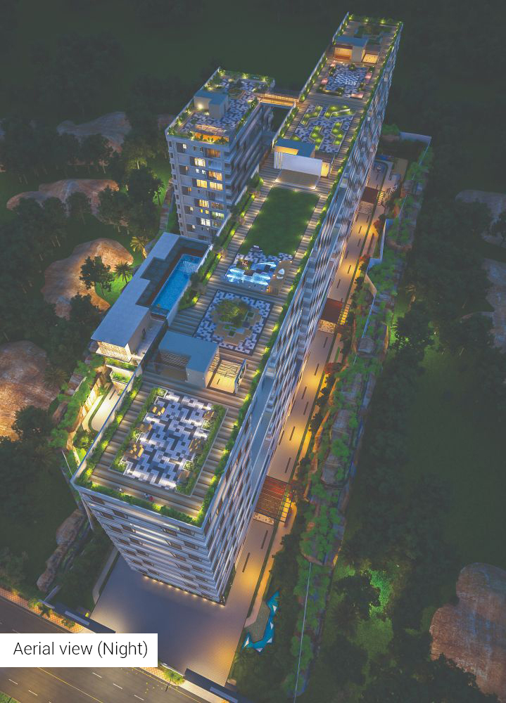Aerial View (Night)